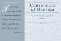 Free Printable Baptism Certificate   Free Printable with regard to Baptism Certificate Template Word