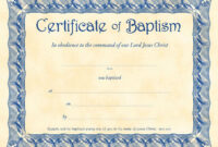 Free Printable Baptism Certificates Water Catholic intended for Baby Christening Certificate Template