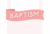 Free Printable Baptism & Christening Invitation Template for Christening Banner Template Free