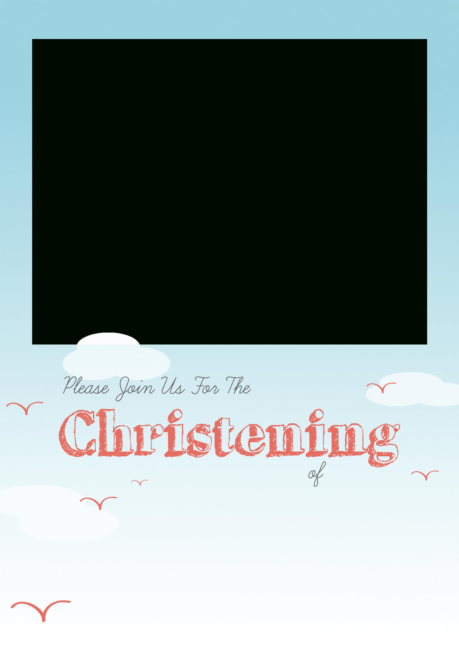 Free Printable Baptism Invitations Templates - Yupar within Blank Christening Invitation Templates