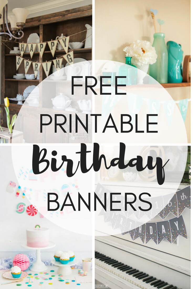 Free Printable Birthday Banners - The Girl Creative within Diy Banner Template Free