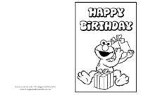Free Printable: Birthday Cards | Coloring Birthday Cards in Elmo Birthday Card Template