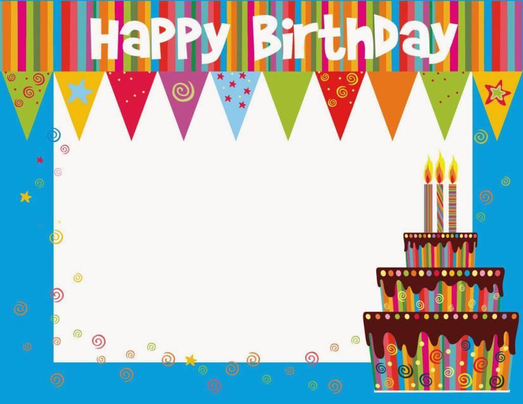 Free Printable Birthday Cards Ideas – Greeting Card Template Pertaining To Free Printable Blank Greeting Card Templates