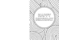 Free Printable Birthday Cards – Paper Trail Design for Foldable Birthday Card Template