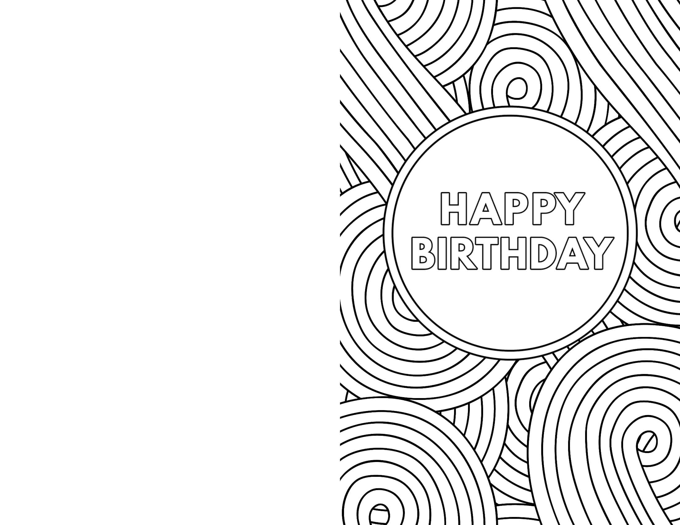 Free Printable Birthday Cards - Paper Trail Design For Foldable Birthday Card Template