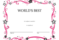 Free Printable Blank Award Certificate Templates Chainimage with regard to Free Printable Blank Award Certificate Templates