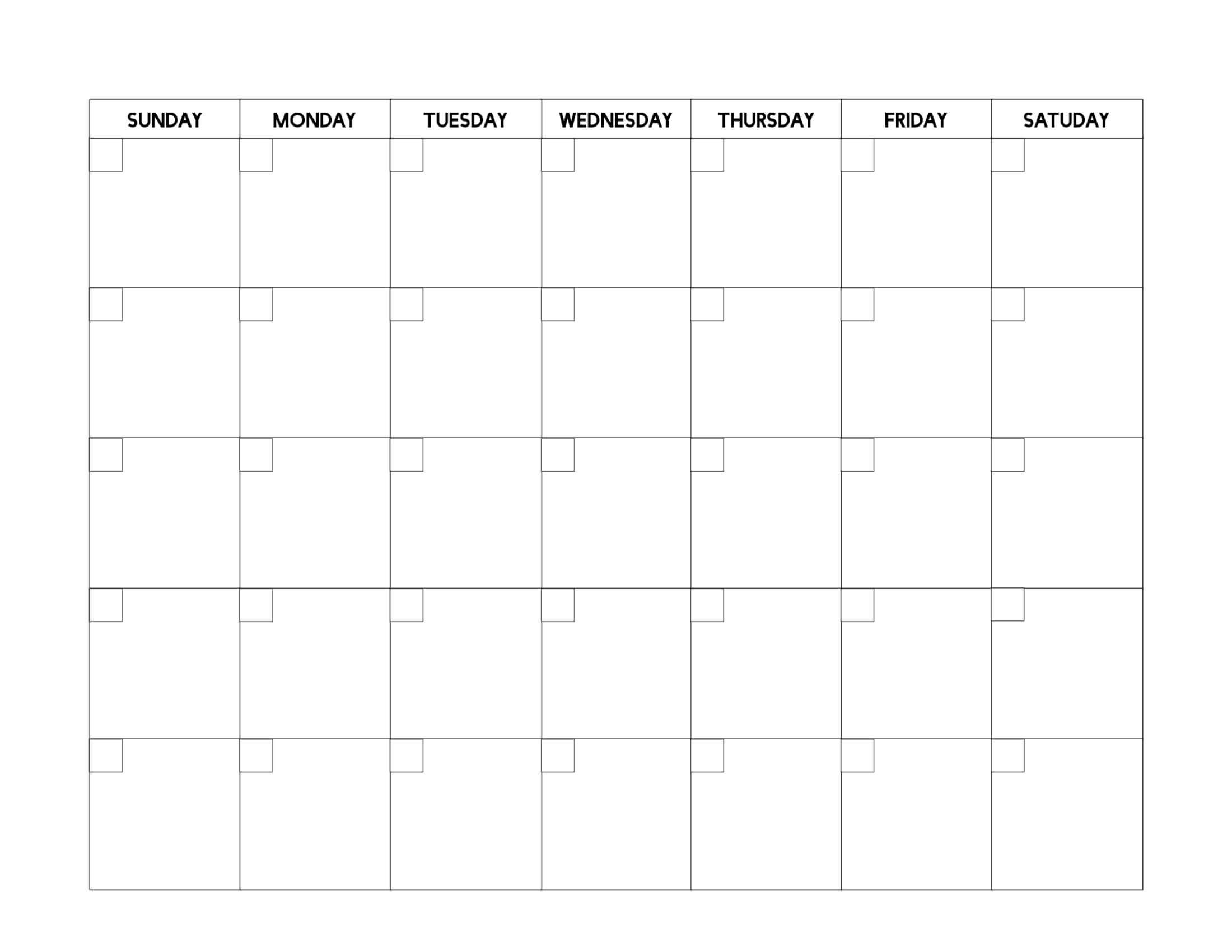Free Printable Blank Calendar Template - Paper Trail Design inside Blank Calander Template