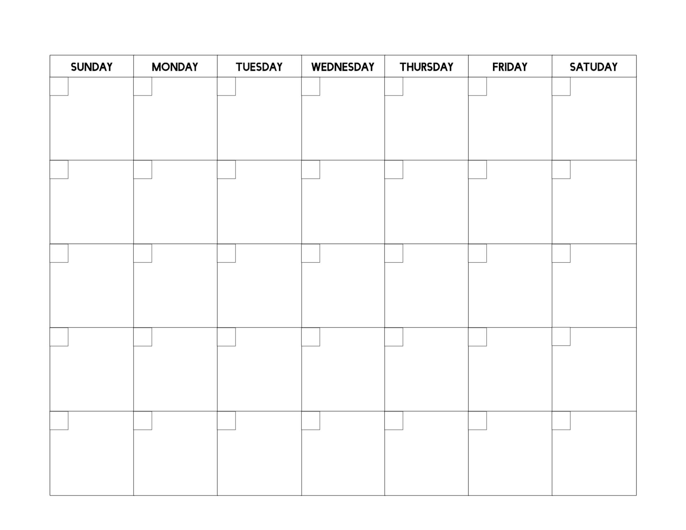 Free Printable Blank Calendar Template - Paper Trail Design with regard to Blank Calender Template