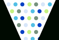 Free Printable Blue & Green Triangle Banner Template with Triangle Banner Template Free