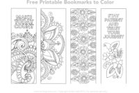 Free Printable Bookmarks To Color | Color Me | Free pertaining to Free Blank Bookmark Templates To Print