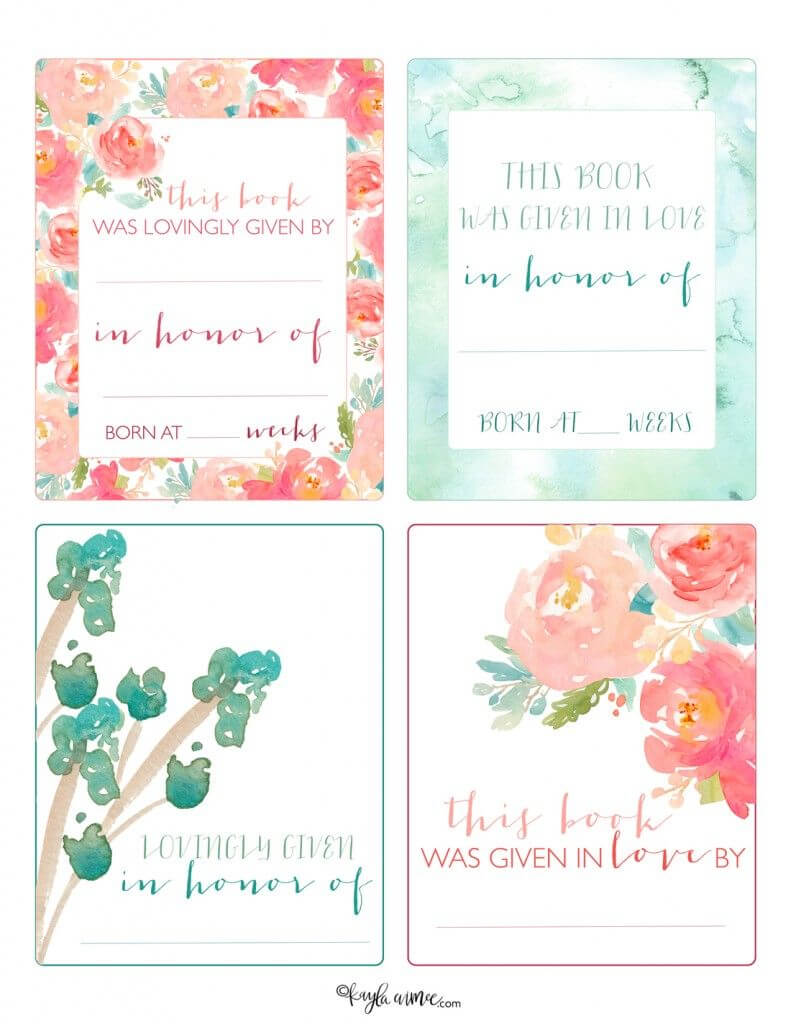 Free Printable Bookplates! | Printable Labels, Free With Regard To Bookplate Templates For Word