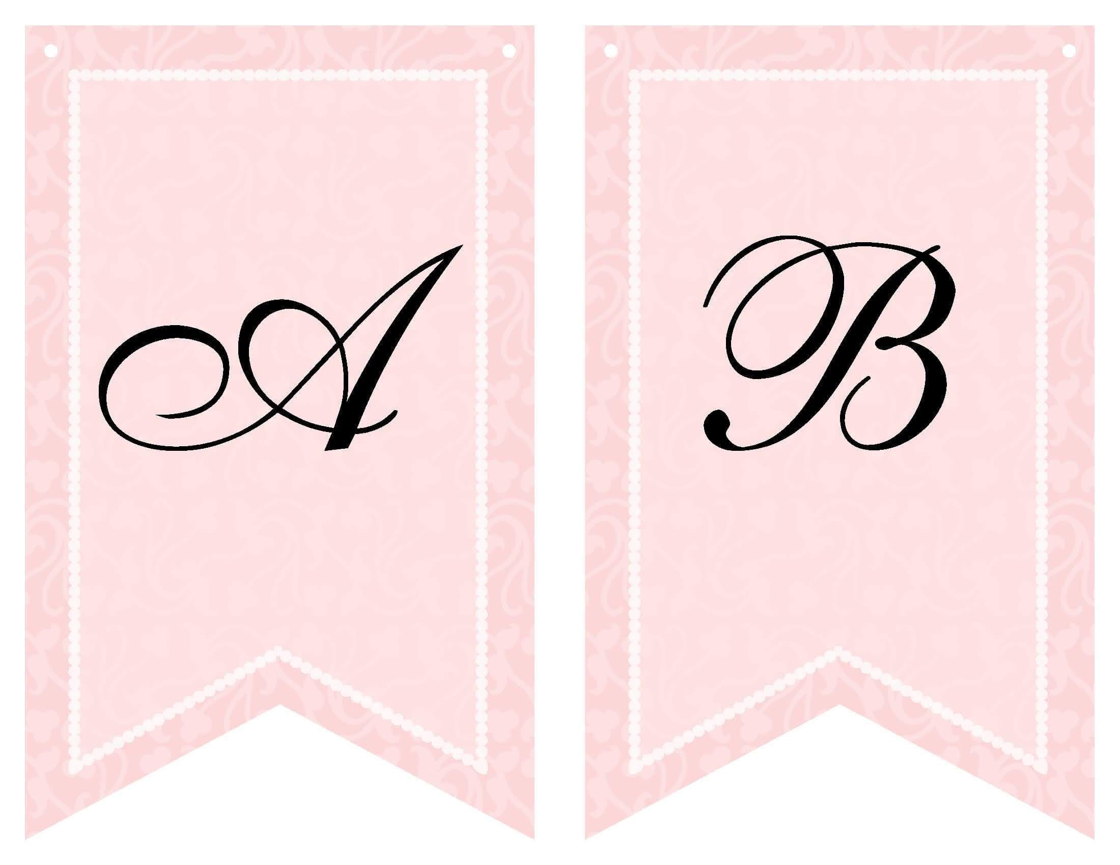 Free Printable Bridal Shower Banner | Vow Renewal | Bridal Pertaining To Free Bridal Shower Banner Template