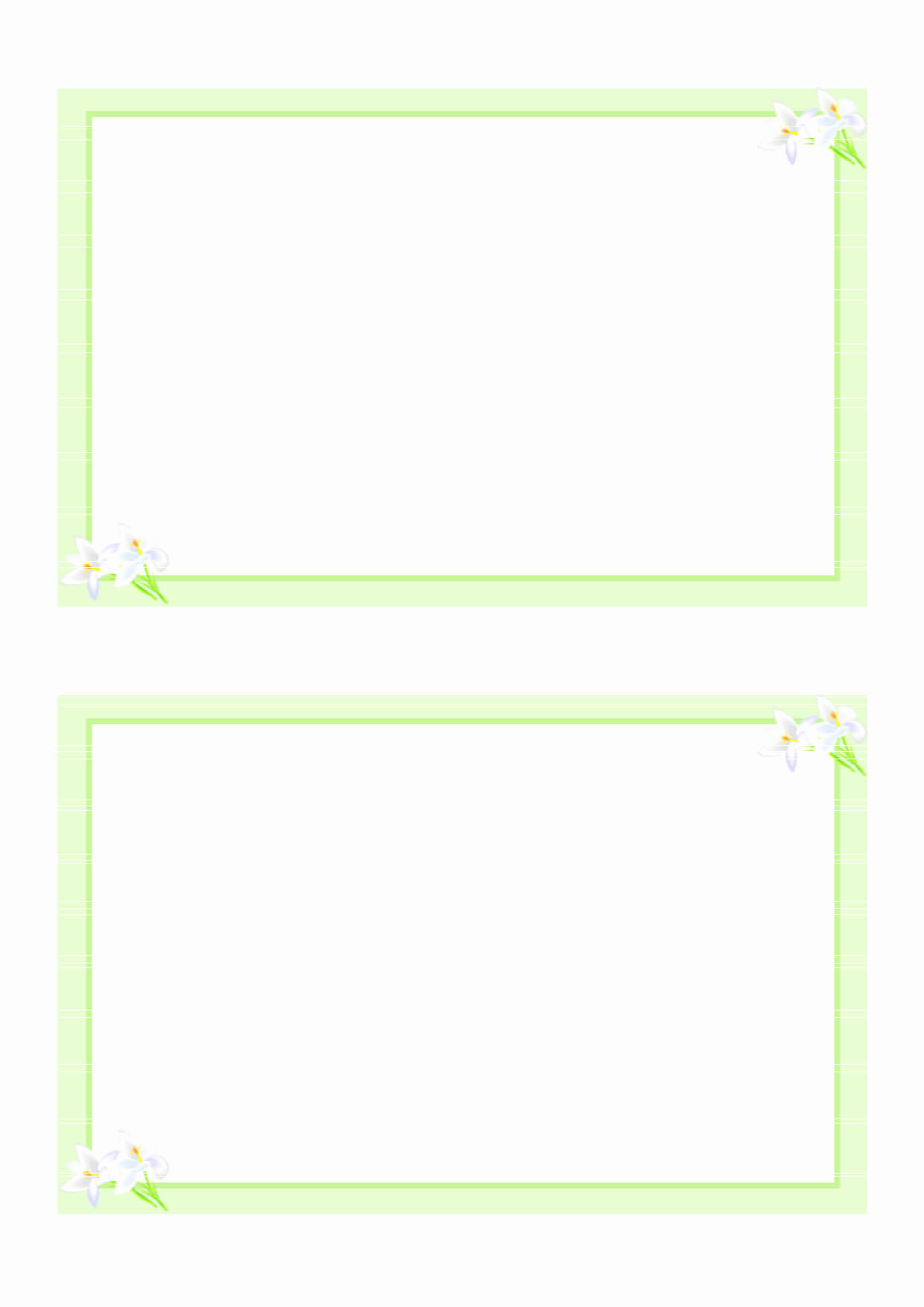 Free Printable Card Templates And 8 Best Of Printable Blank intended for Free Pledge Card Template