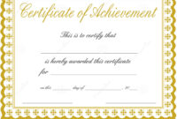 Free Printable Certificate Of Achievement Template | Mult pertaining to Free Printable Certificate Of Achievement Template