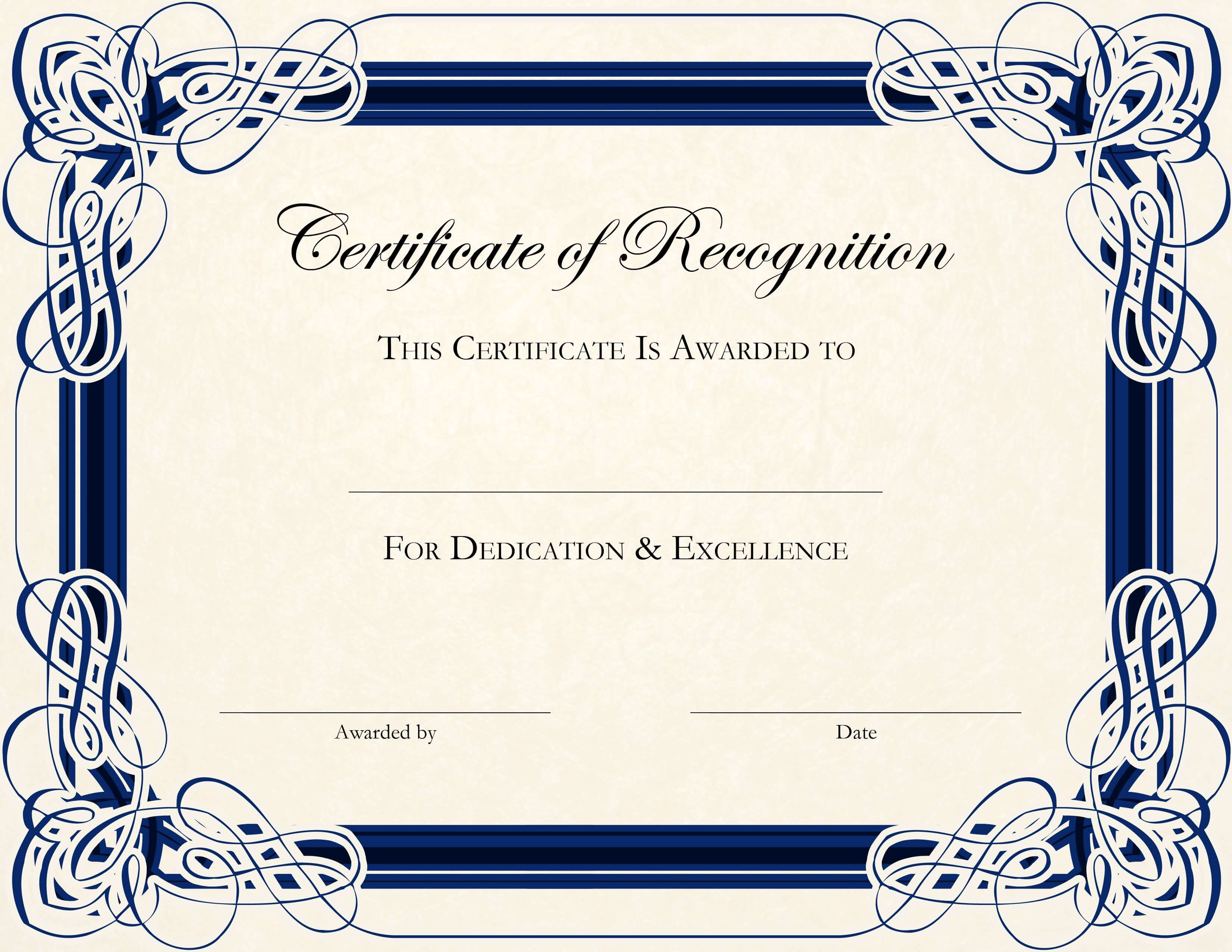Free Printable Certificate Templates For Teachers Intended For Template For Certificate Of Award