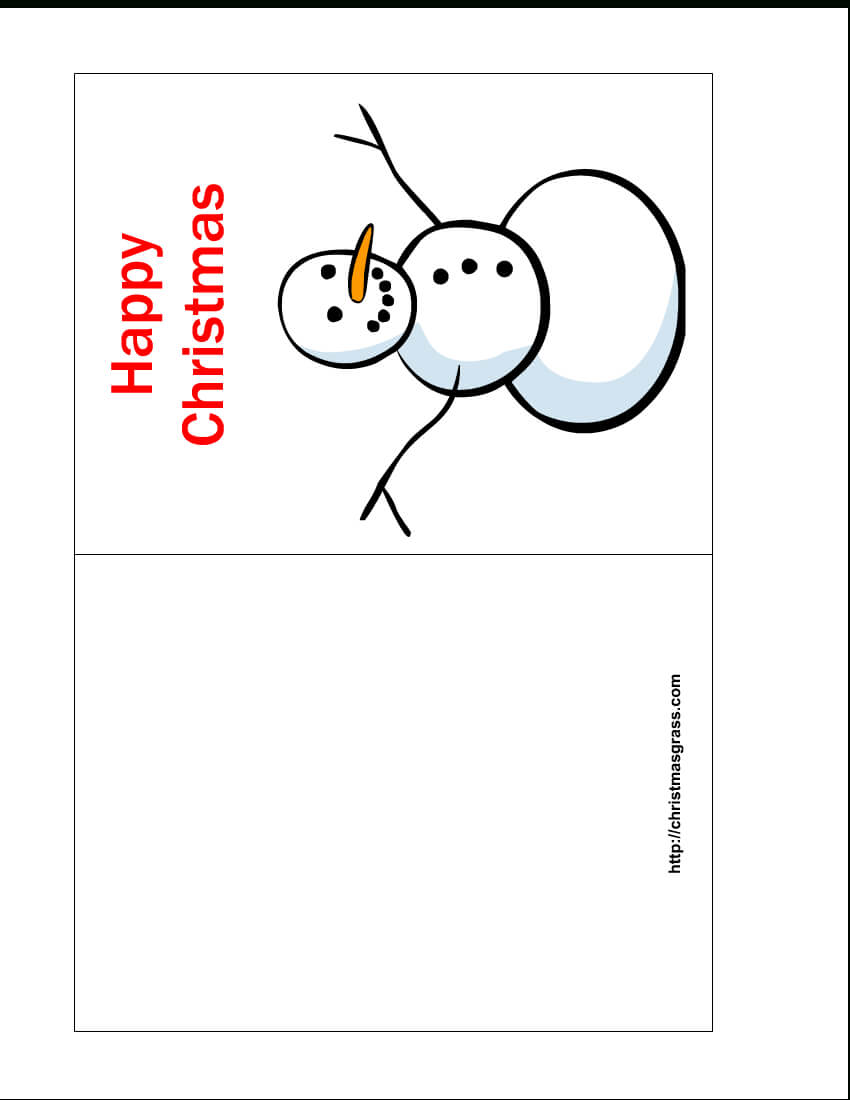 Free Printable Christmas Cards   Free Printable Happy Intended For Printable Holiday Card Templates