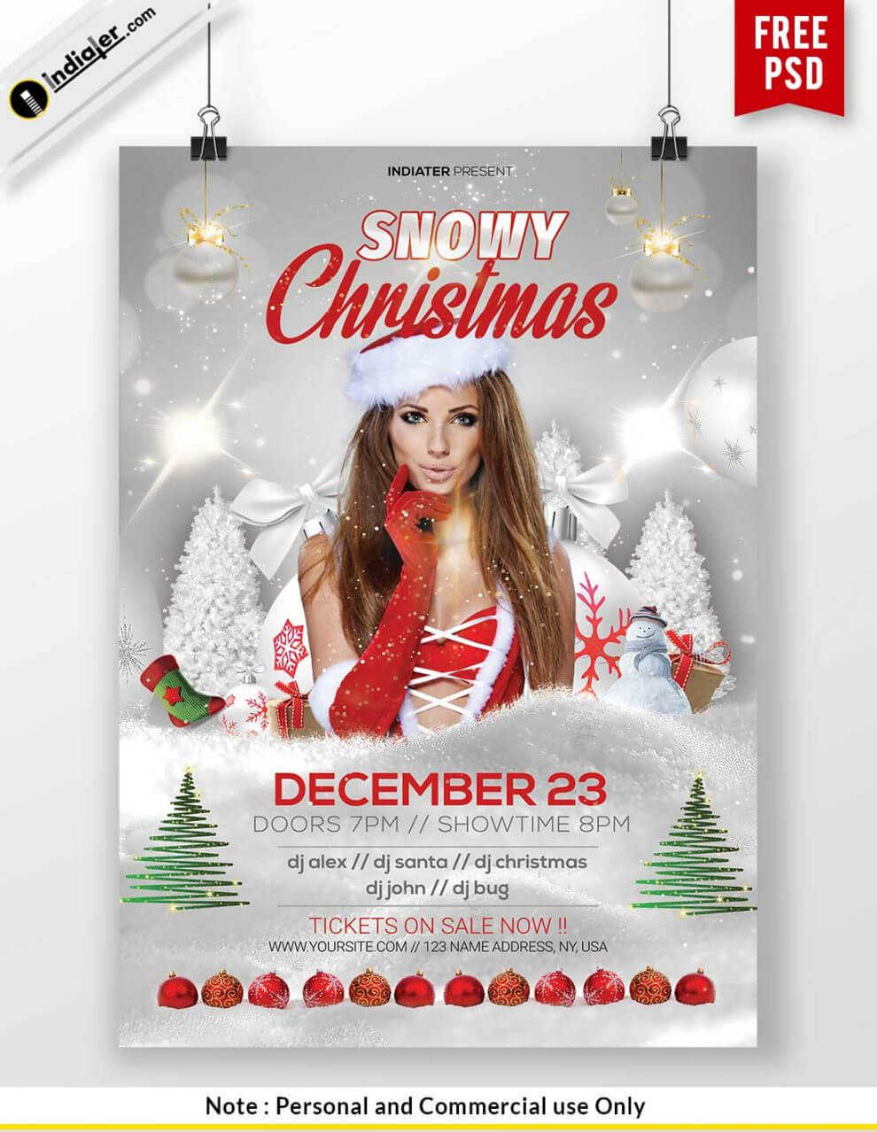 Free Printable Christmas Party Flyer Templates | Poster pertaining to Christmas Brochure Templates Free