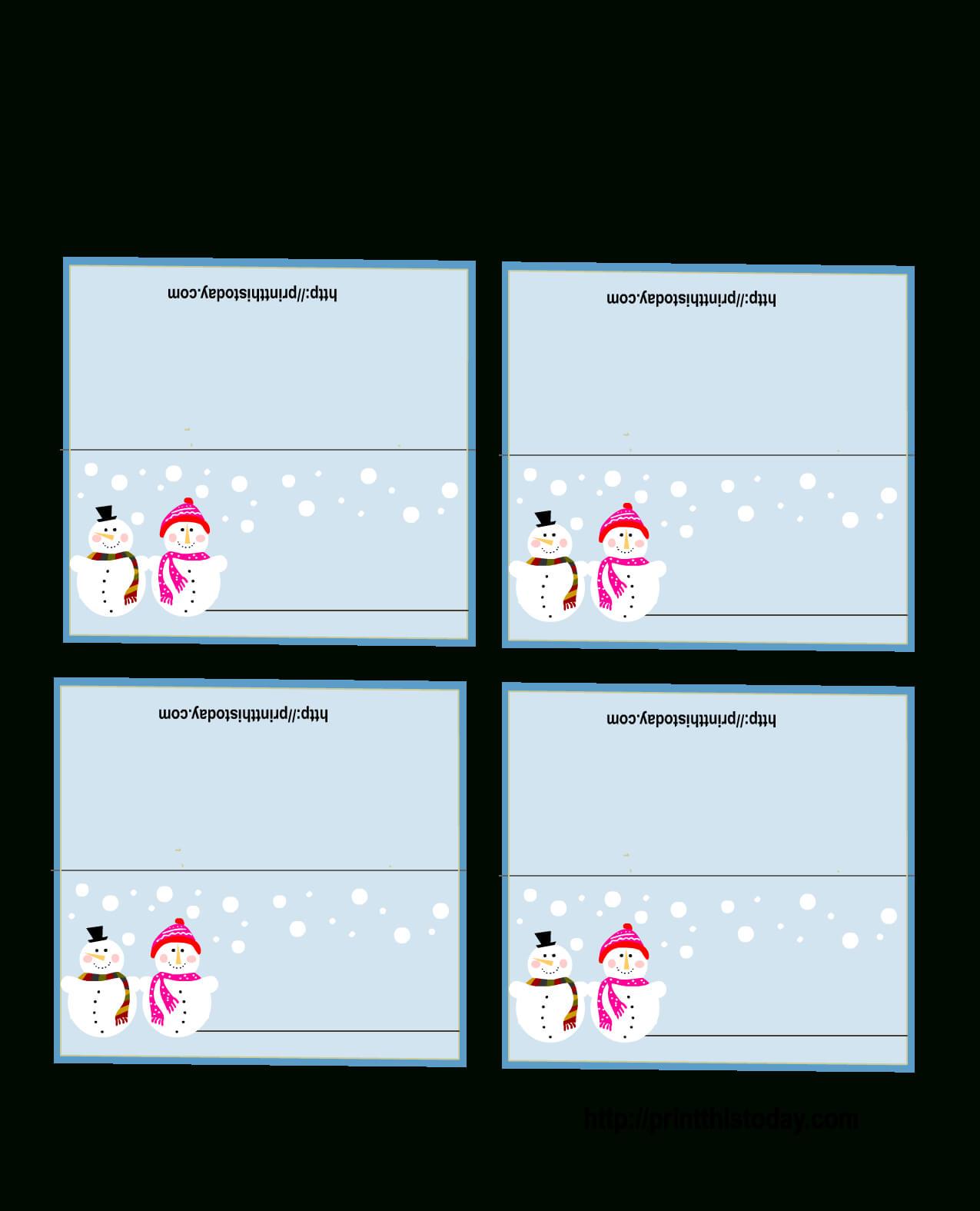 Free Printable Christmas Place-Cards throughout Christmas Table Place Cards Template