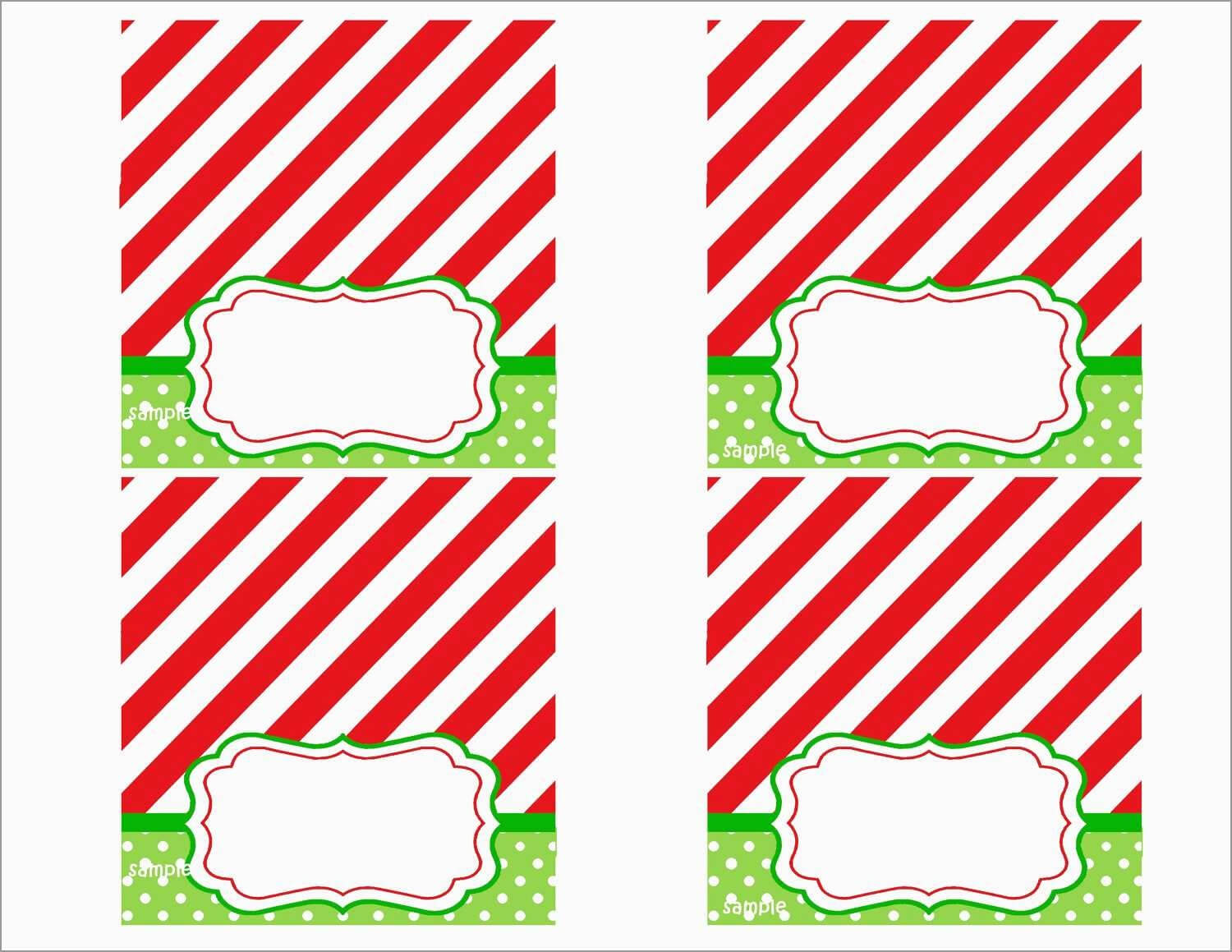 Free Printable Christmas Tent Cards – Festival Collections in Christmas Table Place Cards Template