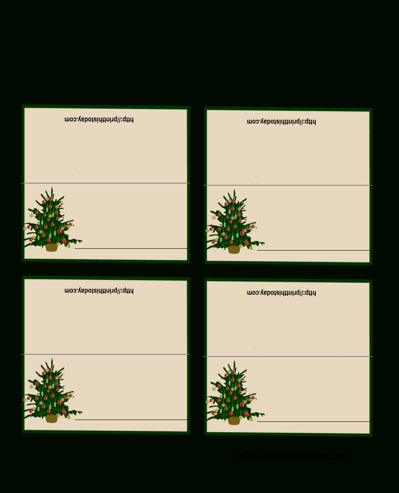 Free Printable Christmas Tree Place Cards | Christmas Place With Regard To Christmas Table Place Cards Template
