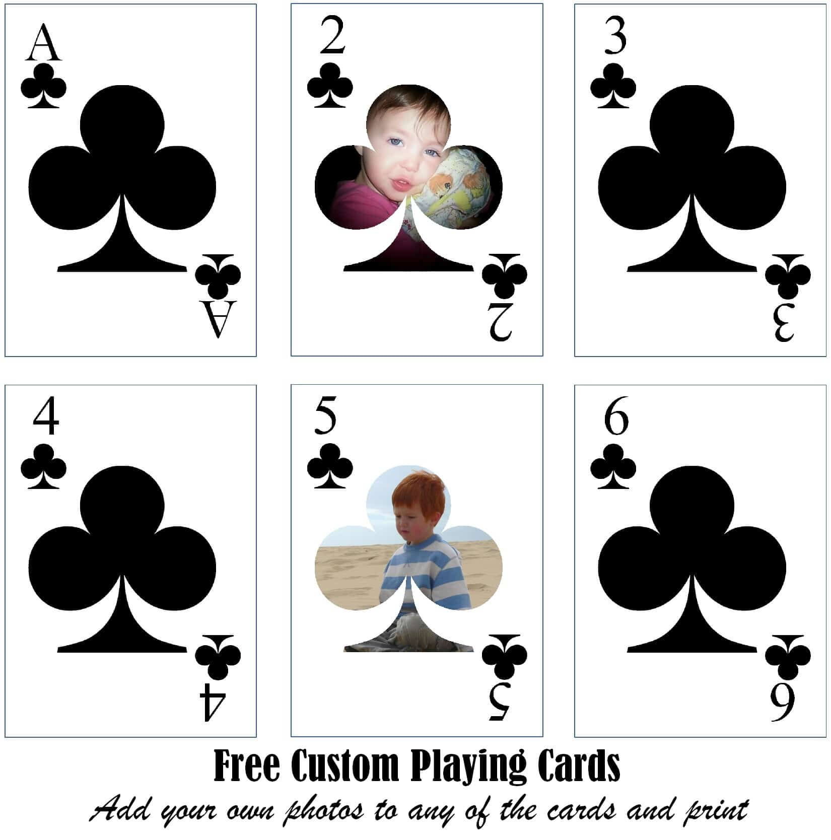 Free Printable Custom Playing Cards | Add Your Photo And/or Text within Free Printable Playing Cards Template