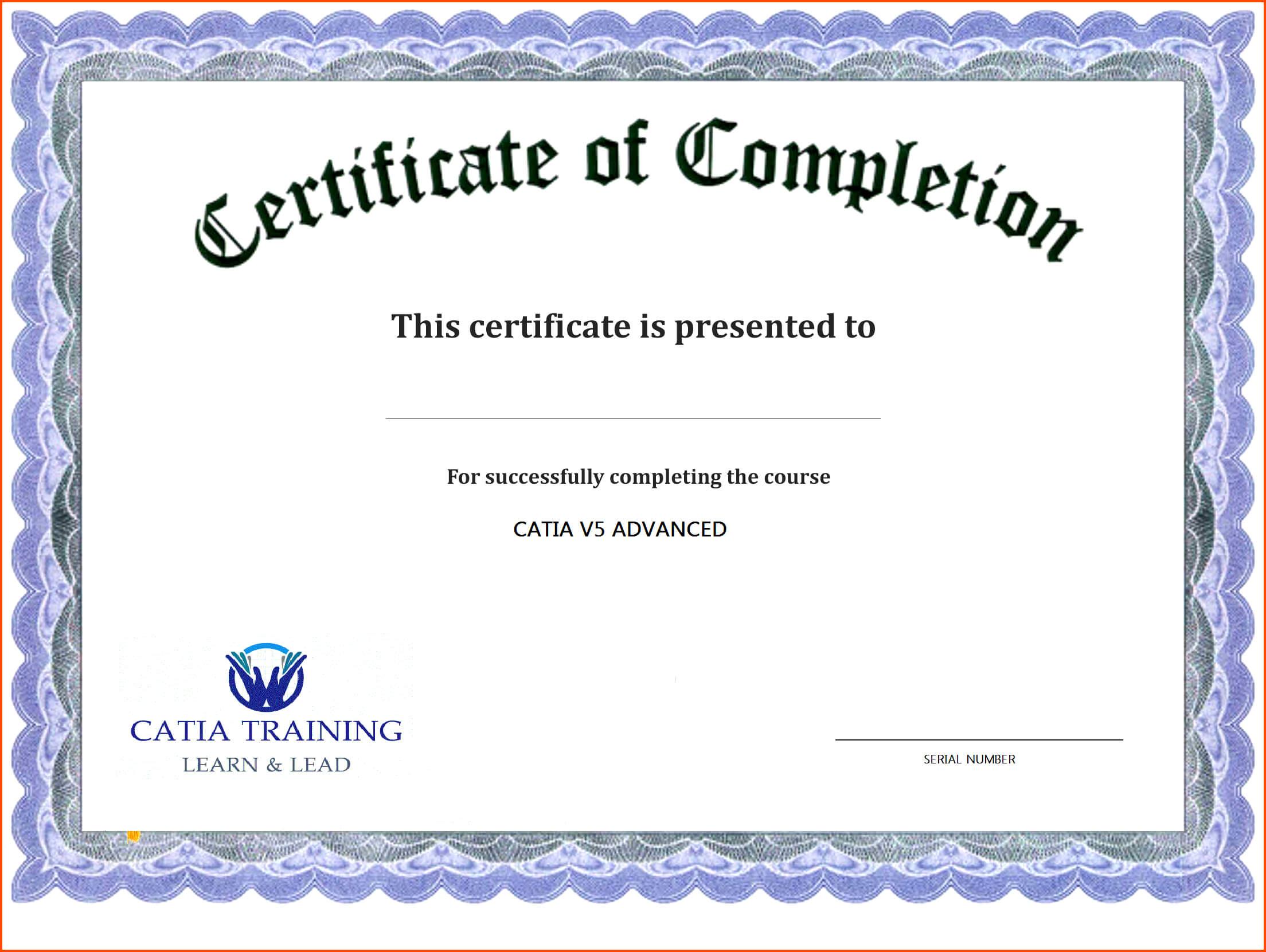 Free Printable Editable Certificates Birthday Celebration Regarding Training Certificate Template Word Format