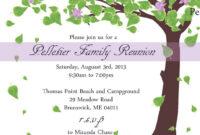 Free Printable Family Reunion Invitations | Mult-Igry regarding Reunion Invitation Card Templates