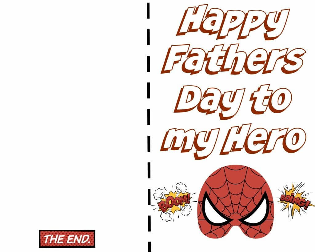 Free Printable Fathers Day Super Hero Cards. Just Print Out with regard to Fathers Day Card Template