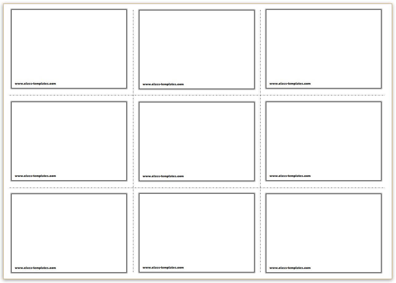 Free Printable Flash Cards Template Intended For Free Printable Flash Cards Template