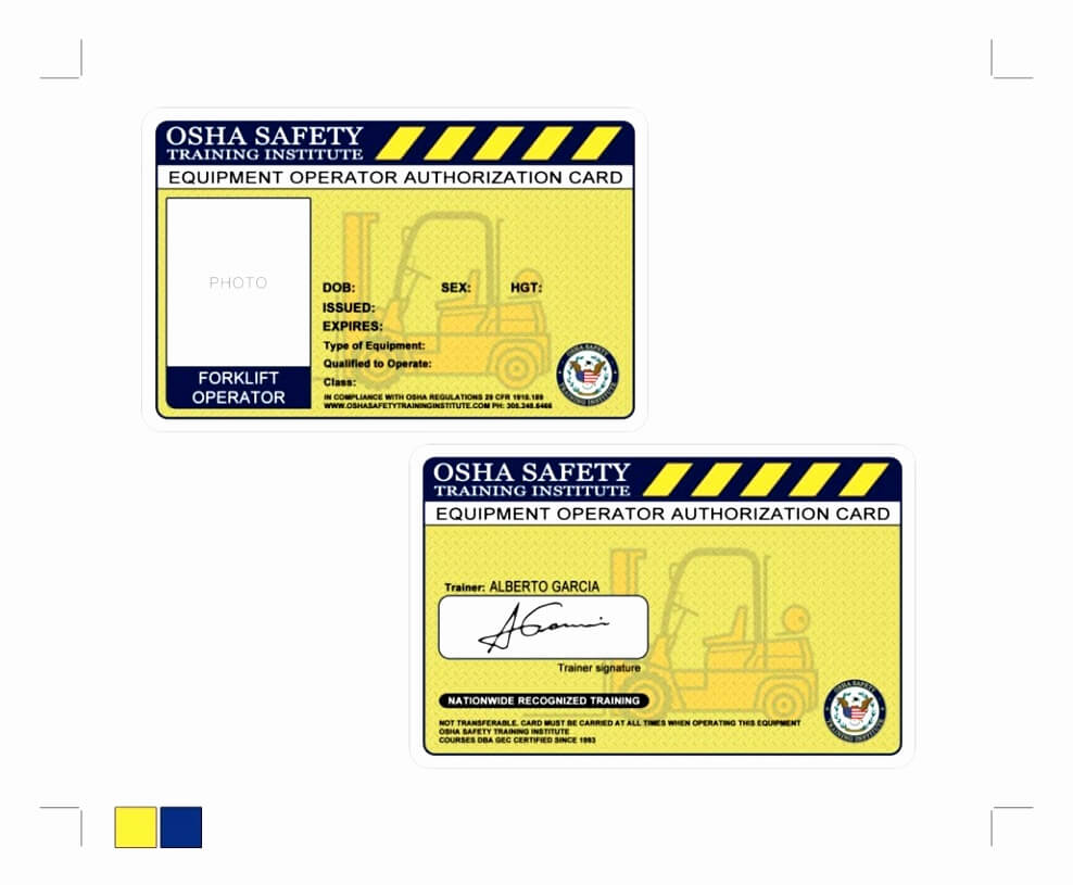 Free Printable Forklift License Template Then Forklift Throughout Forklift Certification Card Template