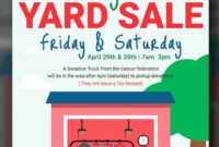 Free Printable Garage Sale Flyers Templates Attract More intended for Yard Sale Flyer Template Word