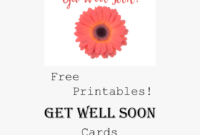 Free Printable Get Well Cards Pin – Free Printable Printable with Get Well Soon Card Template
