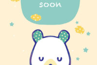Free Printable Get Well Teddy Bear Greeting Card   Get Well throughout Get Well Soon Card Template