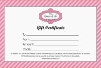 Free Printable Gift Certificates Online For Birthday inside Free Photography Gift Certificate Template