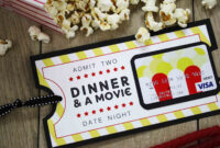Free Printable} Give Date Night For A Wedding Gift | Diy intended for Movie Gift Certificate Template