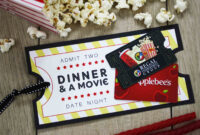 Free Printable} Give Date Night For A Wedding Gift | Gcg regarding Movie Gift Certificate Template