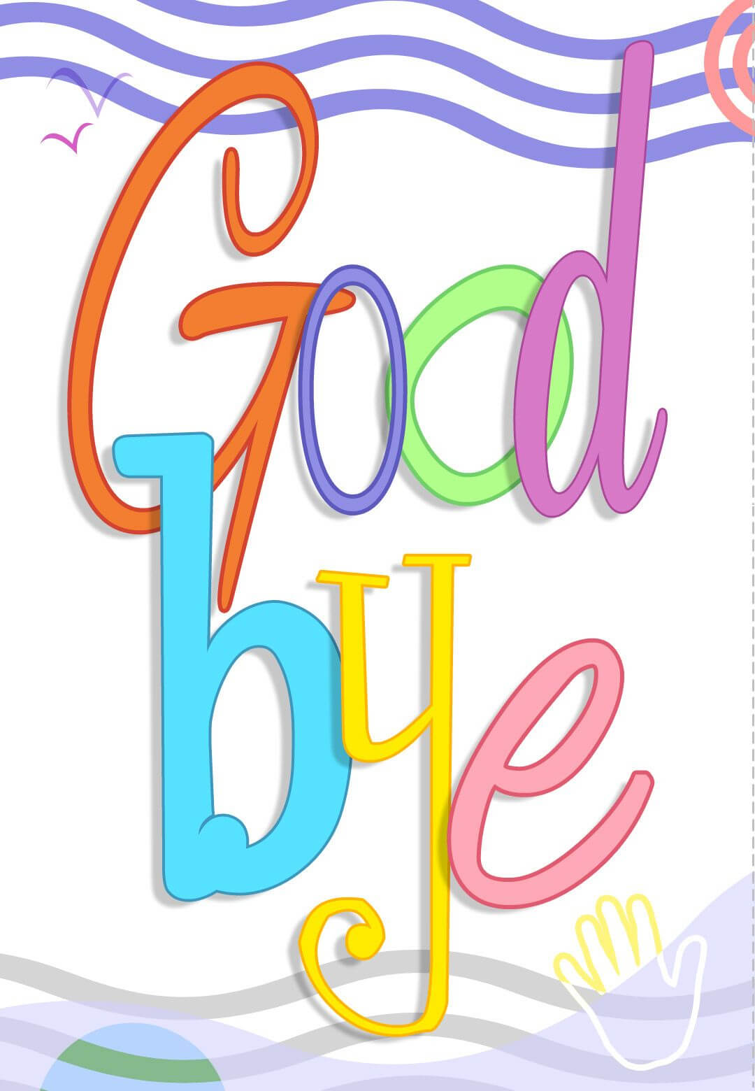 Free Printable Good Bye Greeting Card | Greeting Cards For inside Goodbye Card Template