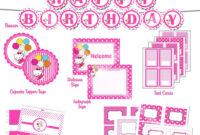 Free Printable Hello Kitty 1St Birthday Invitations with regard to Hello Kitty Birthday Banner Template Free