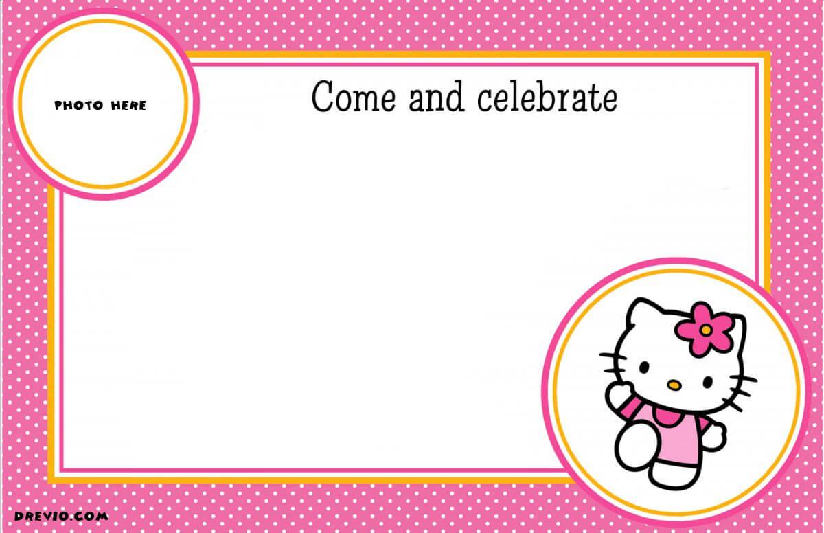 Free Printable Hello Kitty Birthday Party Invitations With Regard To Hello Kitty Birthday Card Template Free