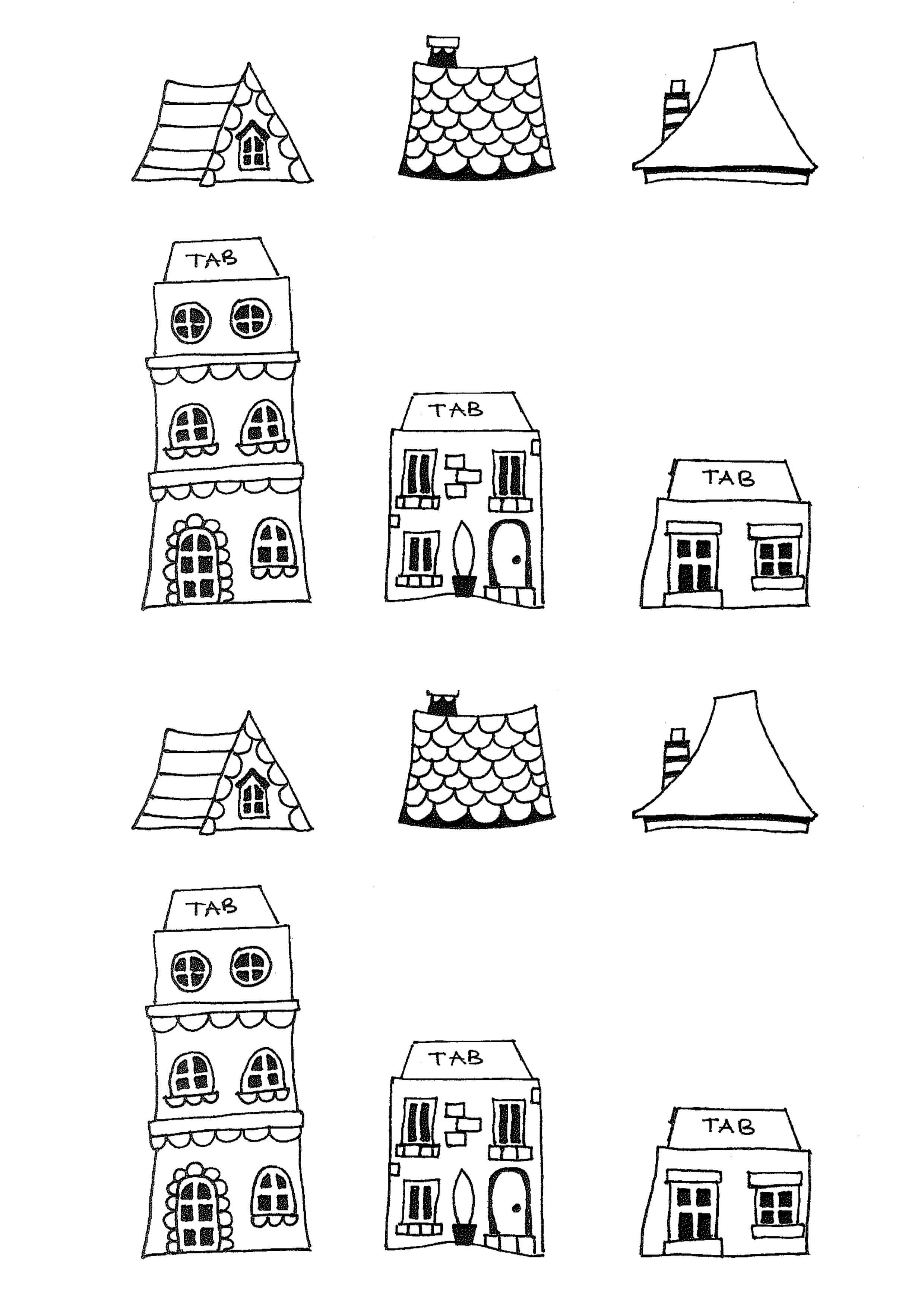 Free Printable House Templates | Moving House Cards in Moving Home Cards Template