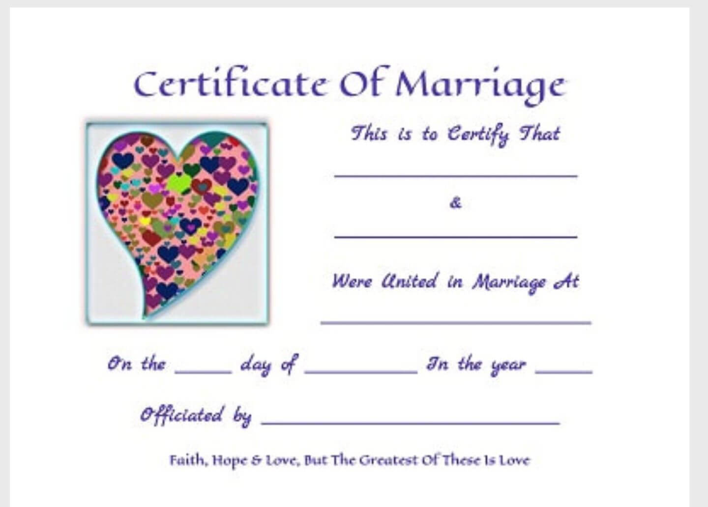 Free Printable Keepsakemarriage Certificates Www.thisjoyous throughout Love Certificate Templates