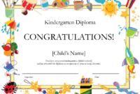 Free Printable Kindergarten Diplomaprintshowergames In School Certificate Templates Free