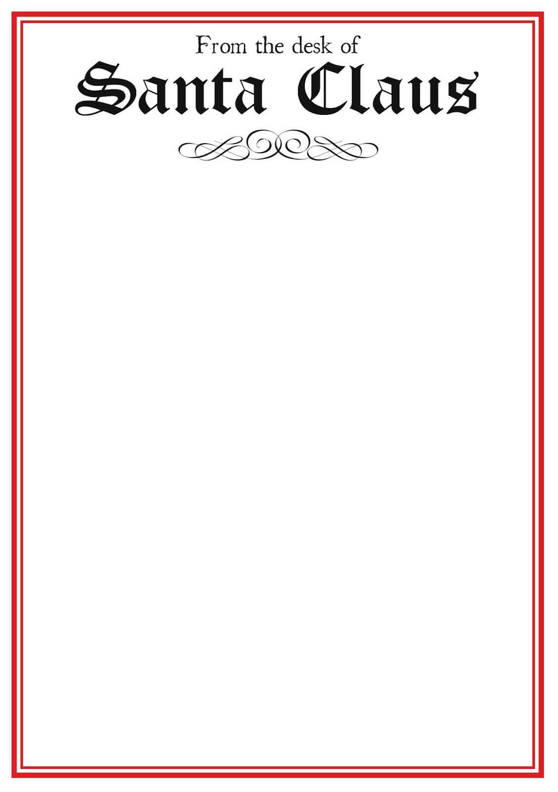 Free Printable Letter From Santa Template Word Collection With Regard To Letter From Santa Template Word