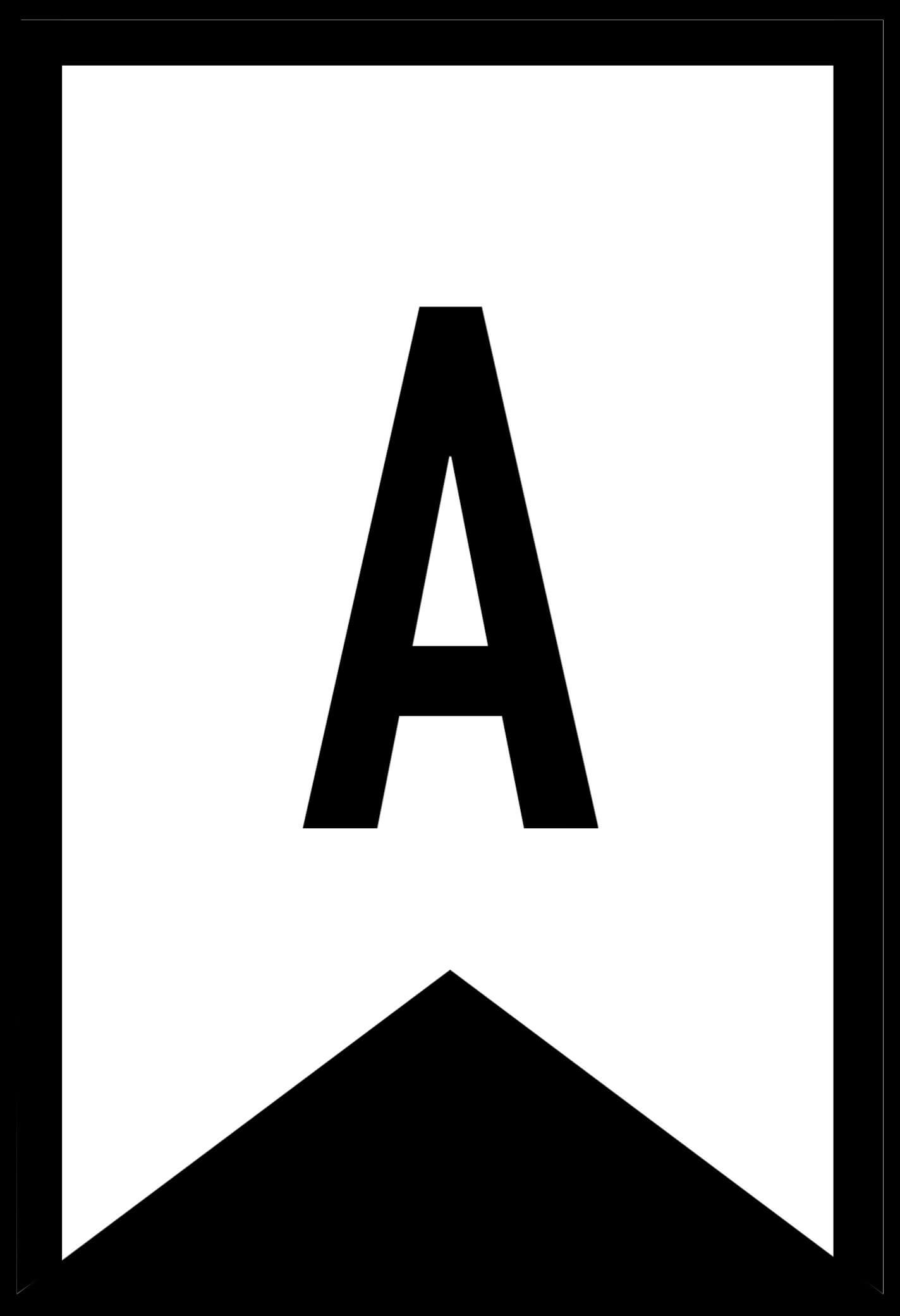 Free Printable Letters For Banners Entire Alphabet Letter for Printable Letter Templates For Banners