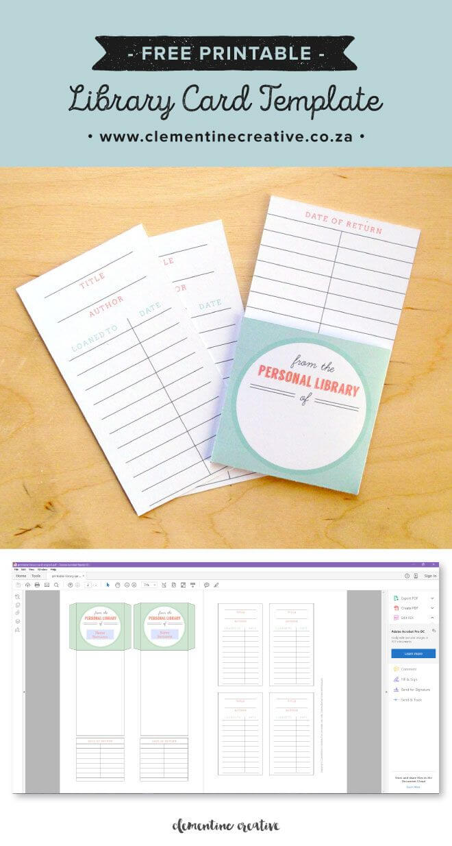 Free Printable Library Cards | Library Card, Library For Library Catalog Card Template