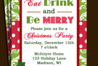 Free Printable Office Christmas Party Invitations for Free Christmas Invitation Templates For Word