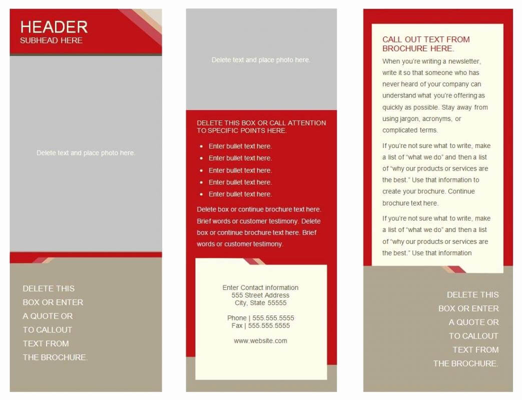 Free Printable Pamphlet Template And 6 Panel Brochure with 6 Panel Brochure Template