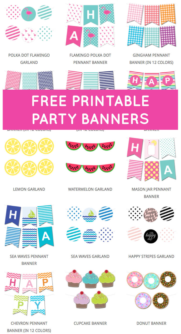 Free Printable Party Banners From @chicfetti | Free Pertaining To Free Printable Party Banner Templates