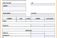 Free Printable Paycheck Stub Templates Pay Template Canada with Blank Pay Stubs Template