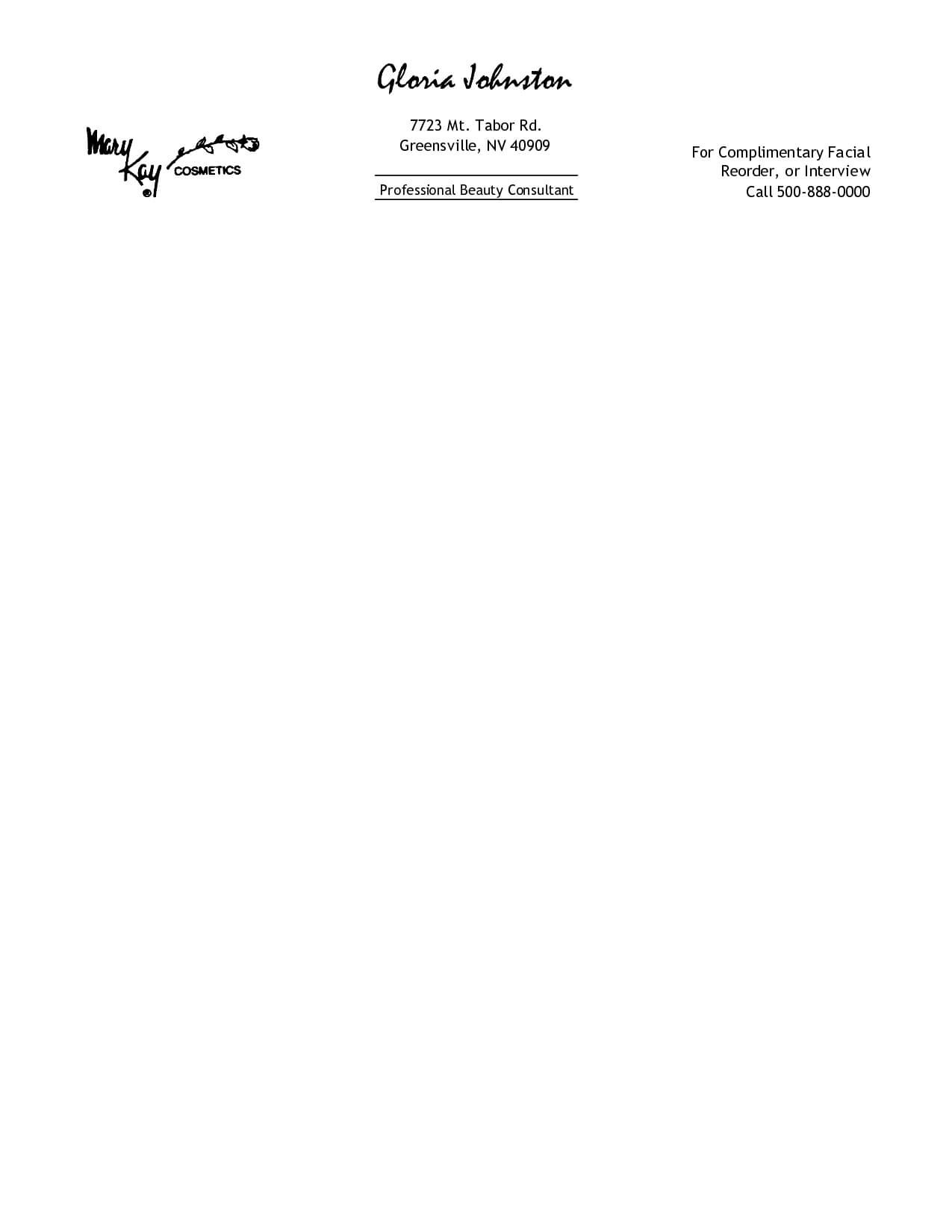 Free Printable Personal Letterhead Templates   Free inside Word Stationery Template Free